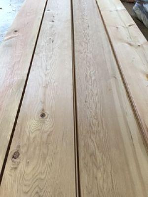 Reclaimed Redwood floor boards